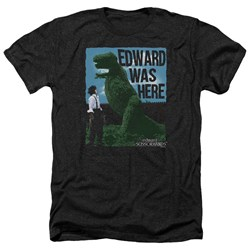 Edward Scissorhands - Mens Edward Was Here Heather T-Shirt