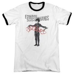 Edward Scissorhands - Mens Show & Tell Ringer T-Shirt