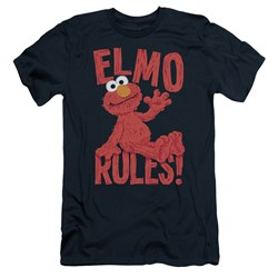 Sesame Street - Mens Elmo Rules Slim Fit T-Shirt