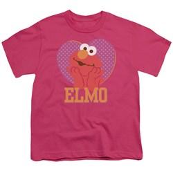 Sesame Street - Big Boys Patterned Elmo Heart T-Shirt