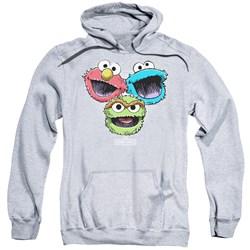 Sesame Street - Mens Halftone Heads Pullover Hoodie
