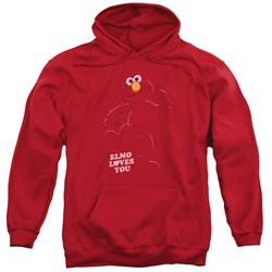 Sesame Street - Mens Elmo Loves You Pullover Hoodie