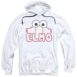 Sesame Street - Mens Elmo Letters Pullover Hoodie