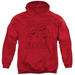 Sesame Street - Mens Group Crunch Pullover Hoodie