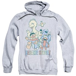 Sesame Street - Mens Colorful Group Pullover Hoodie