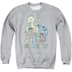 Sesame Street - Mens Colorful Group Sweater