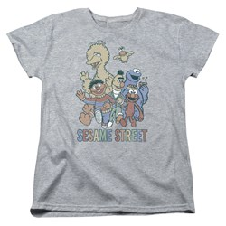 Sesame Street - Womens Colorful Group T-Shirt