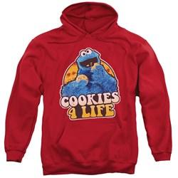 Sesame Street - Mens Cookies 4 Life Pullover Hoodie
