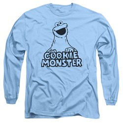 Sesame Street - Mens Vintage Cookie Monster Long Sleeve T-Shirt