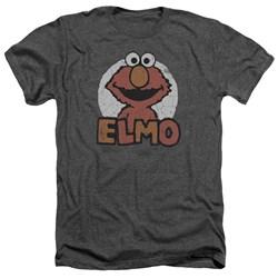 Sesame Street - Mens Elmo Name Heather T-Shirt