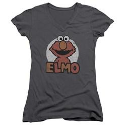 Sesame Street - Juniors Elmo Name V-Neck T-Shirt