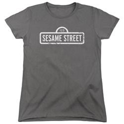 Sesame Street - Womens One Color Logo T-Shirt