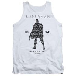 Superman - Mens Paisley Sihouette Tank Top