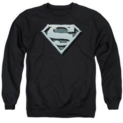 Superman - Mens Chrome Shield Sweater