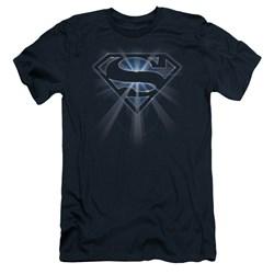 Superman - Mens Glowing Shield Slim Fit T-Shirt