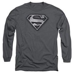 Superman - Mens Duct Tape Shield Long Sleeve T-Shirt