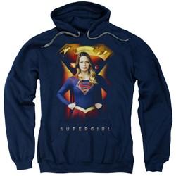 SuperGirl - Mens Standing Symbol Pullover Hoodie