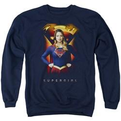 SuperGirl - Mens Standing Symbol Sweater