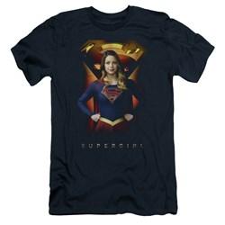 SuperGirl - Mens Standing Symbol Premium Slim Fit T-Shirt