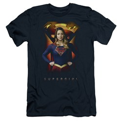 SuperGirl - Mens Standing Symbol Slim Fit T-Shirt