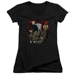 Stargate SG1 - Juniors Jack O'Neill V-Neck T-Shirt