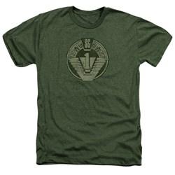 Stargate - Mens Sg1 Distressed Heather T-Shirt