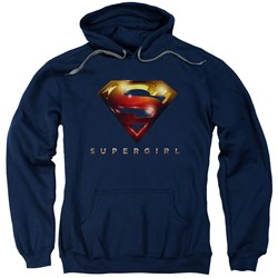 Supergirl - Mens Logo Glare Pullover Hoodie