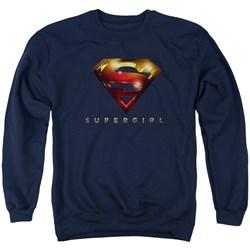 SuperGirl - Mens Logo Glare Sweater