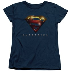 SuperGirl - Womens Logo Glare T-Shirt