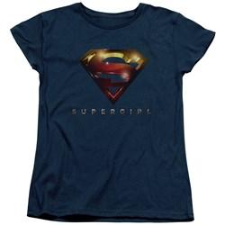 SuperGirl - Womens Logo Glare T-Shirt