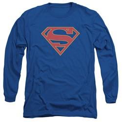 SuperGirl - Mens Logo Long Sleeve T-Shirt