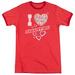 Smarties - Mens I Heart Smarties Ringer T-Shirt