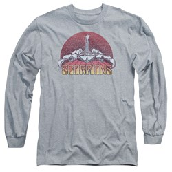 Scorpions - Mens Scorpions Color Logo Distressed Long Sleeve T-Shirt