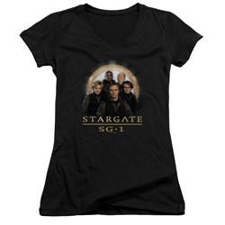 Stargate SG1 - Juniors Sg1 Team V-Neck T-Shirt