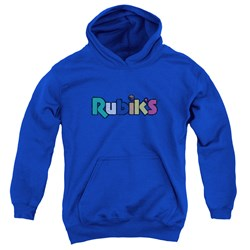 Rubik's Cube - Youth Smudge Logo Pullover Hoodie