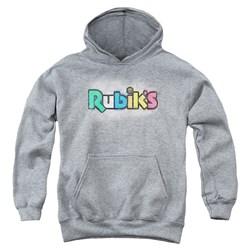 Rubik's Cube - Youth Old School Print Pullover Hoodie
