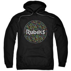 Rubik's Cube - Mens Circle Pattern Pullover Hoodie