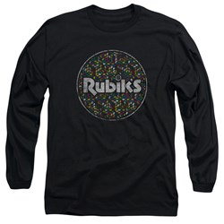 Rubik's Cube - Mens Circle Pattern Long Sleeve T-Shirt