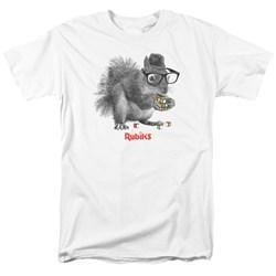 Rubik's Cube - Mens Nerd Squirrel T-Shirt