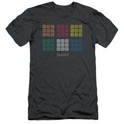 Rubik's Cube - Mens Minimal Squares Slim Fit T-Shirt
