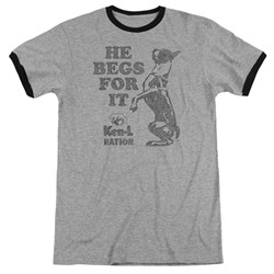 Ken L Ration - Mens Begs Ringer T-Shirt