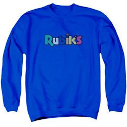 Rubik's Cube - Mens Smudge Logo Sweater