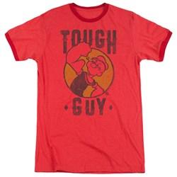 Popeye - Mens Tough Guy Ringer T-Shirt