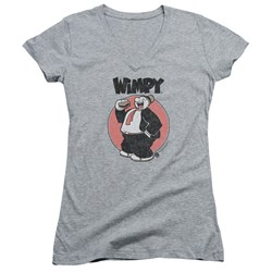 Popeye - Juniors Wimpy V-Neck T-Shirt
