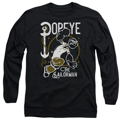 Popeye - Mens Vintage Sailor Long Sleeve T-Shirt
