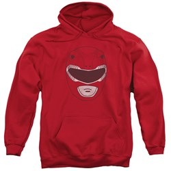 Power Rangers - Mens Red Ranger Mask Pullover Hoodie