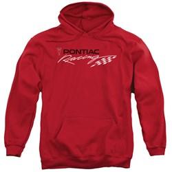 Pontiac - Mens Red Pontiac Racing Pullover Hoodie