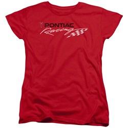 Pontiac - Womens Red Pontiac Racing T-Shirt