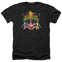 Power Rangers - Mens Rangers Unite Heather T-Shirt