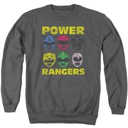 Power Rangers - Mens Ranger Heads Sweater